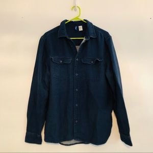H&M • Dark Wash Denim Shirt • Blue